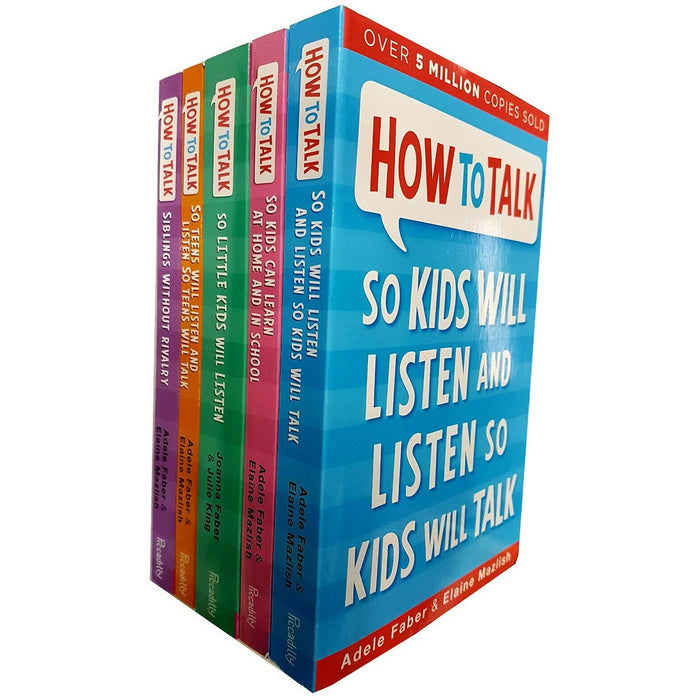 Adele Faber How to talk So Little Kids Will Listen 5 Books collection Set NEW - The Book Bundle