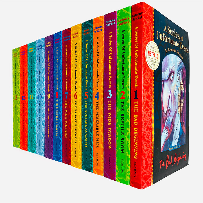 A Series of Unfortunate Events Series by Lemony Snicket 13 Books Complete Collection Set ( Books 1-13) - The Book Bundle