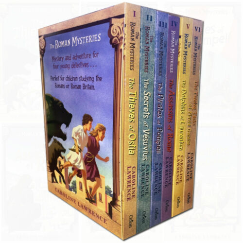Roman Mysteries series Caroline Lawrence 6 books collection pack set NEW PB - The Book Bundle