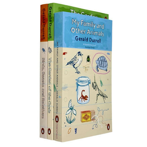 Gerald Durrell Corfu Trilogy 3 Books Collection Set (My Family and Other Animals, Birds Beasts and Relatives, The Garden of the Gods) - The Book Bundle