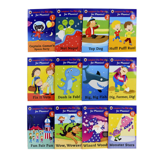 Ladybird I m Ready for Phonics 12 Books Children Pack Paperback Set - The Book Bundle