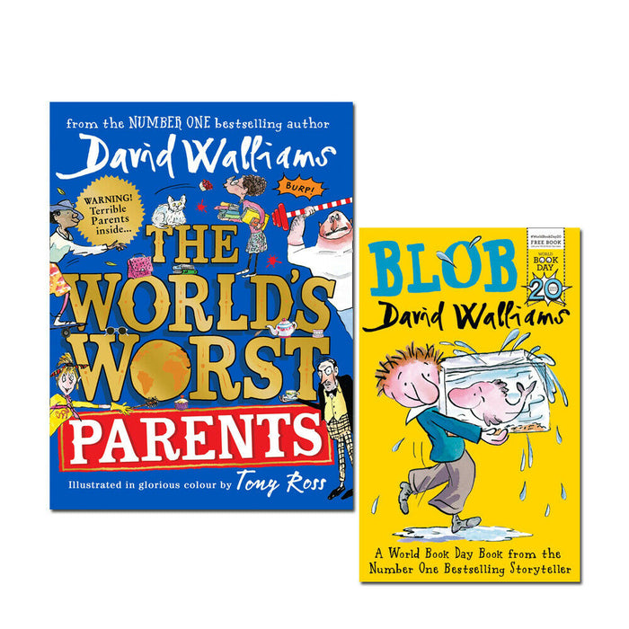 David Walliams The World's Worst Parents and Blob 2 Books Collection Set Pack