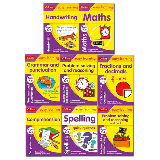 Collins Easy Learning KS2 Age 7-9 Collection 8 Books Set Grammar and Punctuation - The Book Bundle