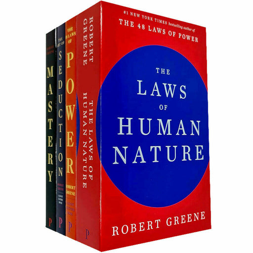 Robert Greene Collection 4 Books Set (The Art of Seduction, Mastery, The Concise 48 Laws of Power, The Laws of Human Nature) - The Book Bundle