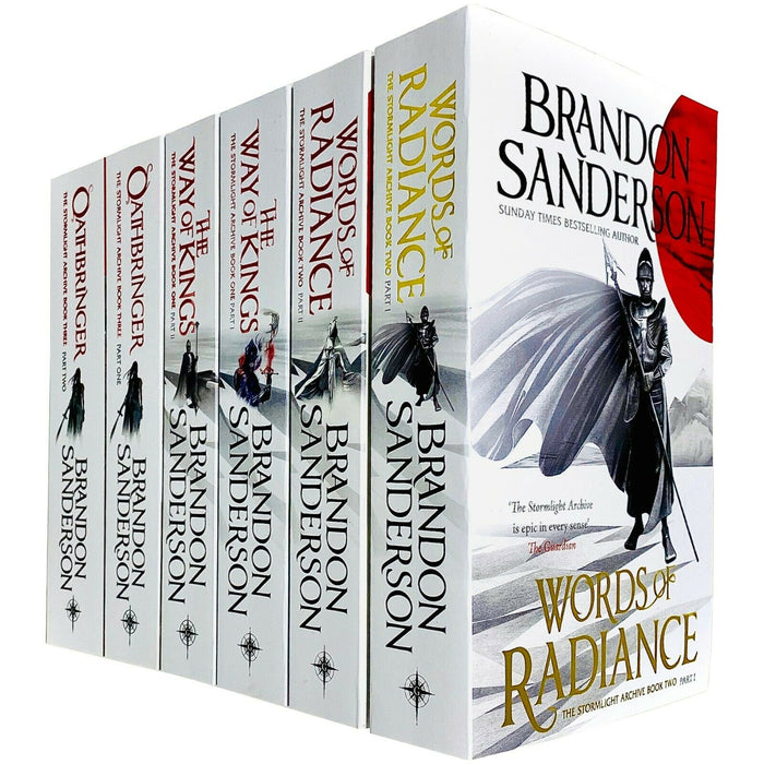 The Stormlight Archive Series 6 Books Collection Set by Brandon Sanderson - The Book Bundle