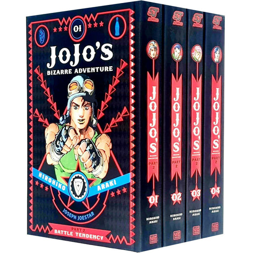 JoJo's Bizarre Adventure Part 2 Battle Tendency Vol 1-4 Collection 4 Books Bundle - The Book Bundle