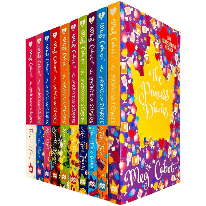 The Princess Diaries 10 Books Collection Set by Meg Cabot (Books 1 - 10) - The Book Bundle