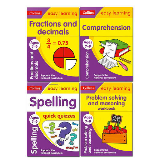 Collins Easy Learning KS2 Ages 7-9 Collection 4 Books Set Fractions and Decimals - The Book Bundle