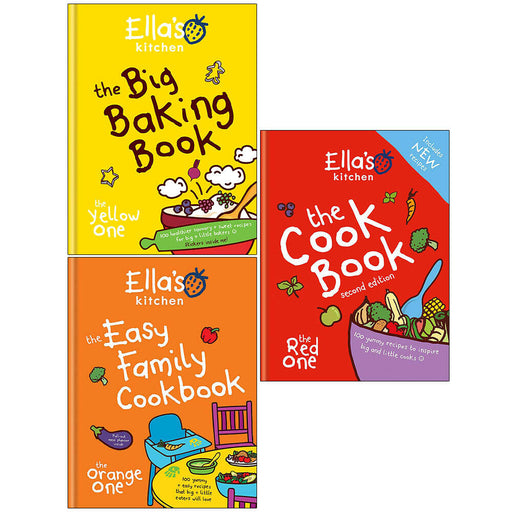 Ella's Kitchen Cookbook 3 Books collection Set Baking, Food Easy Cook Recipe - The Book Bundle