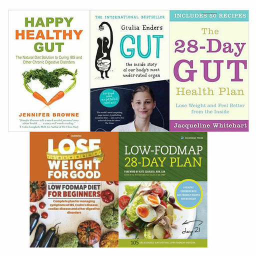 Happy Healthy, THE 28-DAY, Gut,low-fodmap,low fodmap diet 5 Books Collection Set - The Book Bundle