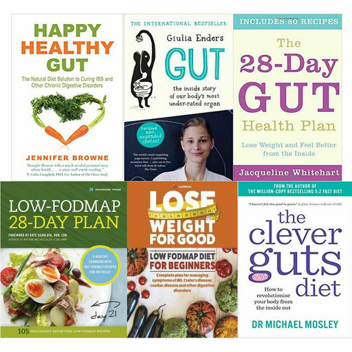 Happy Healthy Gut,Clever Guts,28-DAY,clean,low-fodmap,diet 6 Books Collection - The Book Bundle