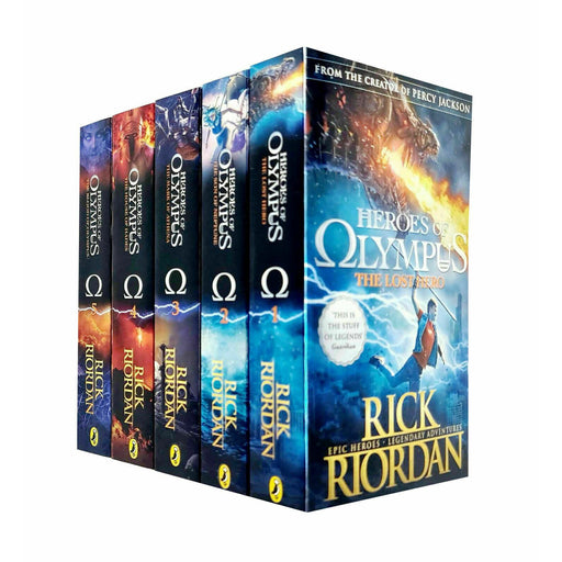Heroes of Olympus Collection Rick Riordan 5 Books Box Set The Blood of Olympus - The Book Bundle