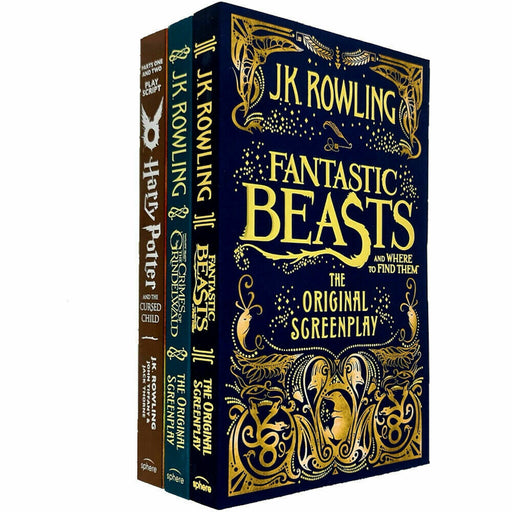 J.K. Rowling 3 Books COllection Set Harry Potter,Fantastic Beasts,Where to Find - The Book Bundle