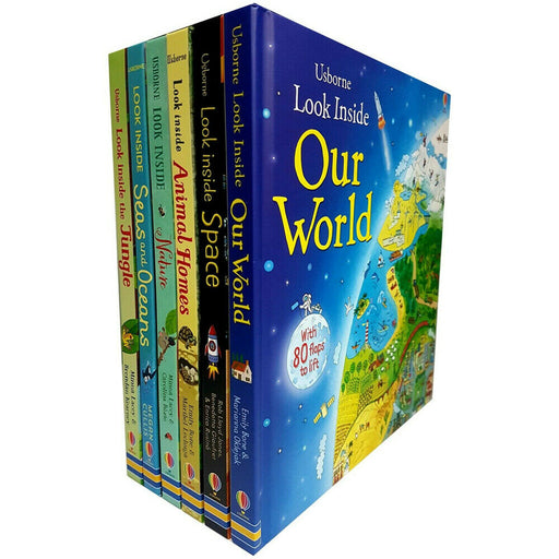 Usborne Look Inside Our world 6 Books Collection Pack Set Animal Homes,Nature - The Book Bundle