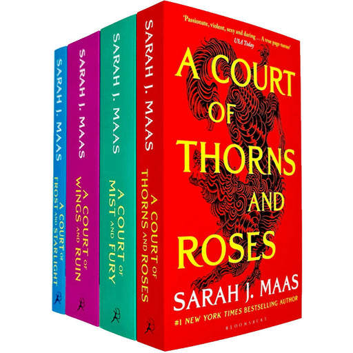 A Court of Thorns and Roses Series Sarah J. Maas 4 Books Collection Set - The Book Bundle