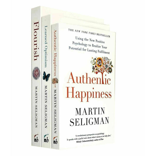 Martin Seligman 3 Books Collection Set (Flourish, Authentic Happiness & Learned Optimism) - The Book Bundle