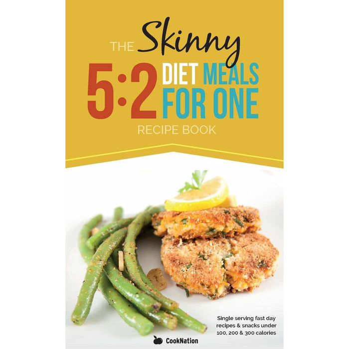 The Skinny 5:2 Diet Meals For One: Single Serving Fast Day Recipes & Snacks Under 100, 200 & 300 Calories Paperback - The Book Bundle