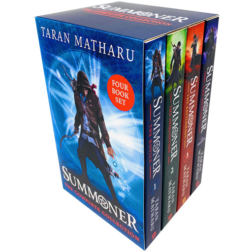 Summoner The Complete Collection 4 Books Box Set by Taran Matharu (The Novice, The Inquisition, The Battlemage & The Outcast) - The Book Bundle