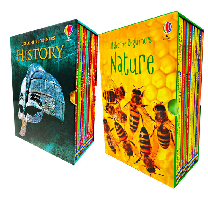 Usborne Beginners History & Nature 20 Books Collection Box Set - The Book Bundle