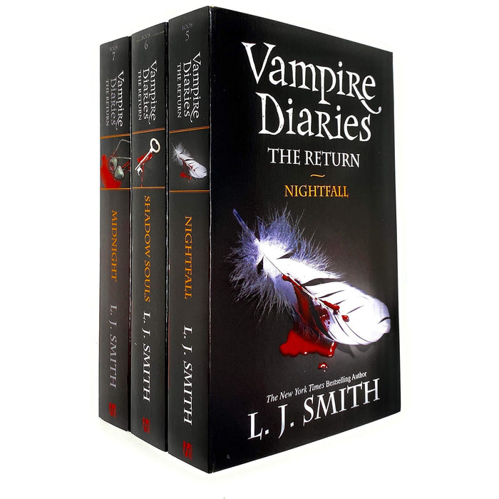 Vampire Diaries the Return Series Book 5 To 7 Collection 3 Books Bundle Set By L J Smith (Nightfall, Shadow Souls , Midnight) Paperback - The Book Bundle