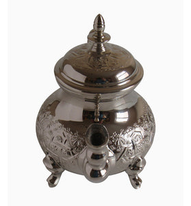 Vintage Styled Handmade Moorish Silver Plated Teapot with Built In Tea Infuser Filter