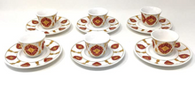 Load image into Gallery viewer, Traditional Moorish Tea Glasses and Saucers Set