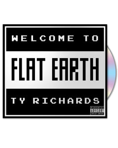 """Welcome to Flat Earth"" CD by Ty Richards - Cover"