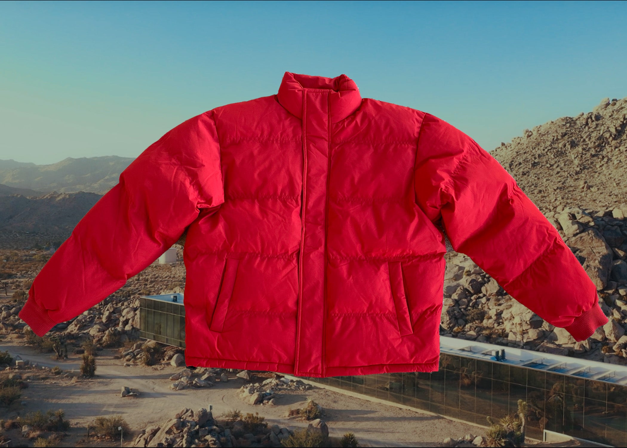 TZUL Mid Tech Bubble Coat (Red)
