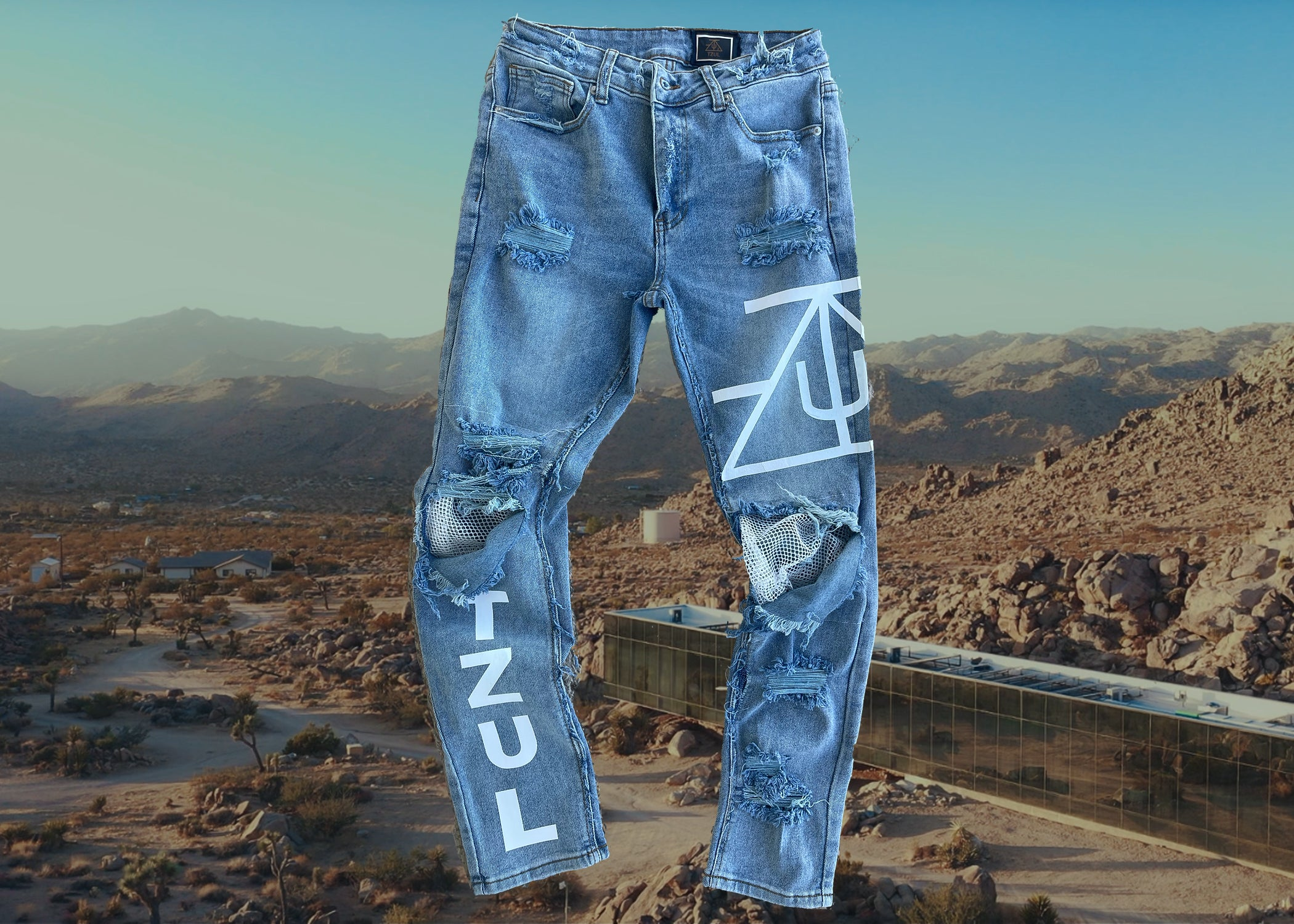 TZUL Net Denim Jeans