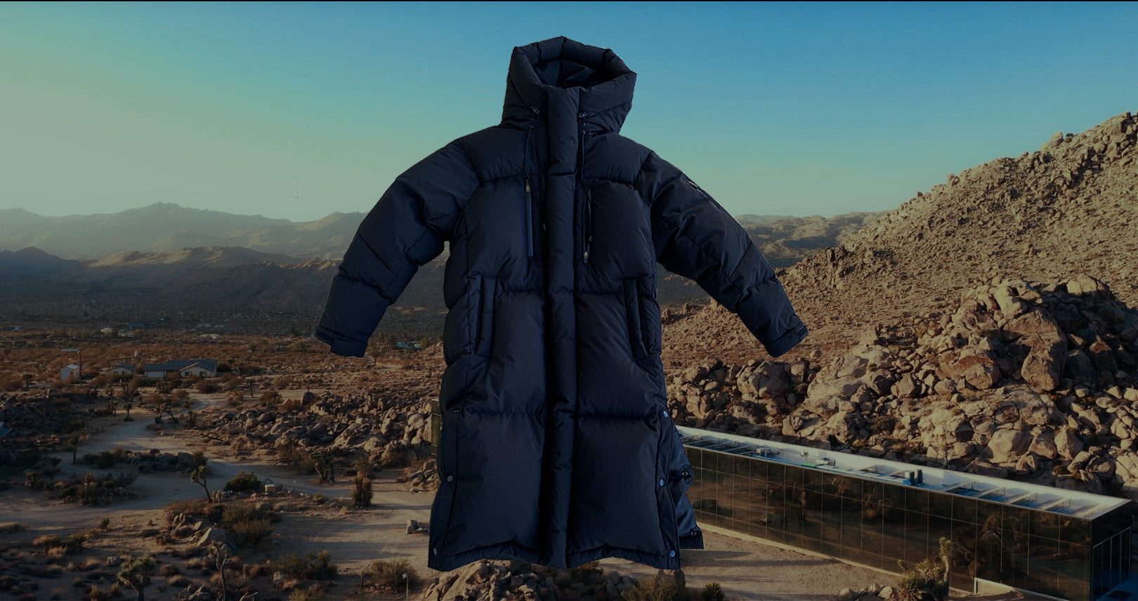 TZUL Tech Bubble Coat (Black)