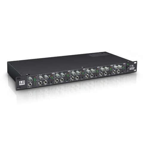 "LD Systems HPA6 19"" Headphone Amplifier 6-Channel"
