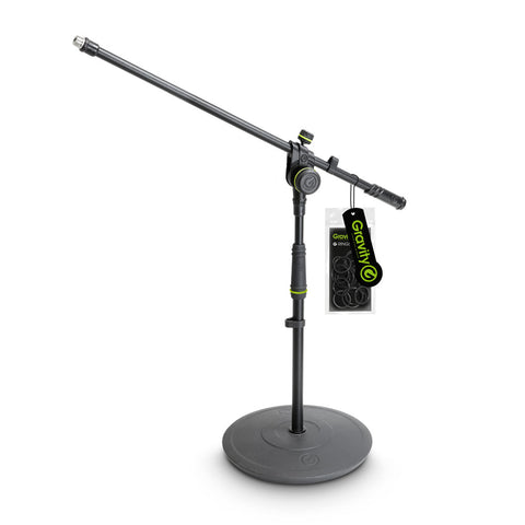 Gravity MS2221B Short Microphone Stand (Round Base)