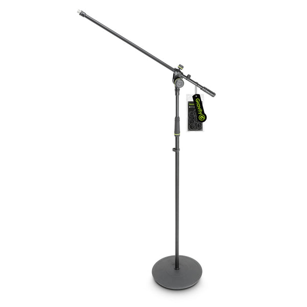 Gravity MS2321B Microphone Stand w/ Fixed Boom (Round Base)