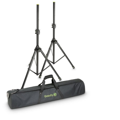 Gravity SS5211B Aluminium Speaker Stands with Transport Bag