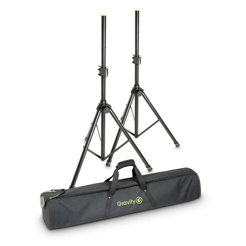 Gravity SS5212B Steel Speaker Stands with Transport Bag