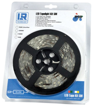 Lighting Resources IP65 LED Tape Kit 5m (RGBi Colourflow)