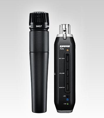 Shure SM57 + X2u XLR-to-USB Bundle