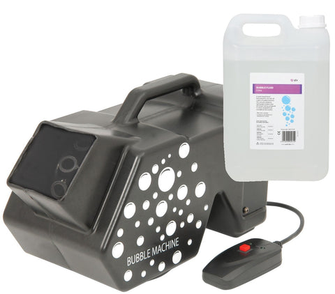 QTX Mega Bubble Machine QTFX-B3 + Bubble Fluid (5L)