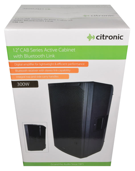 Citronic CAB-12L Active PA speaker with Bluetooth connection