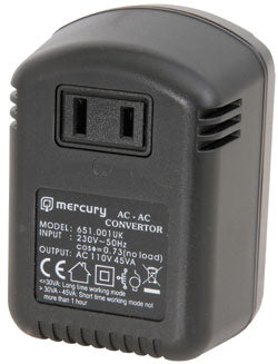 Mercury 45W STEP-DOWN VOLTAGE CONVERTER 230V - 110V