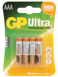"GP Ultra ""AAA"" Alkaline Battery (4-Pack)"