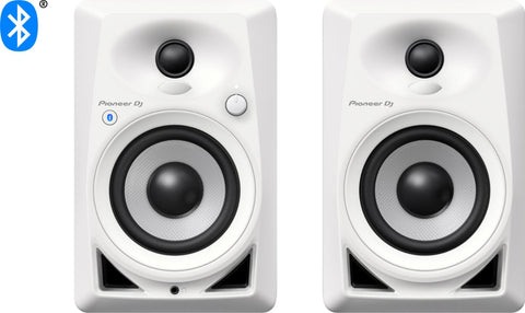 Pioneer DM-40BT 4-inch Compact Active Monitor Speaker with Bluetooth - White (Pair)