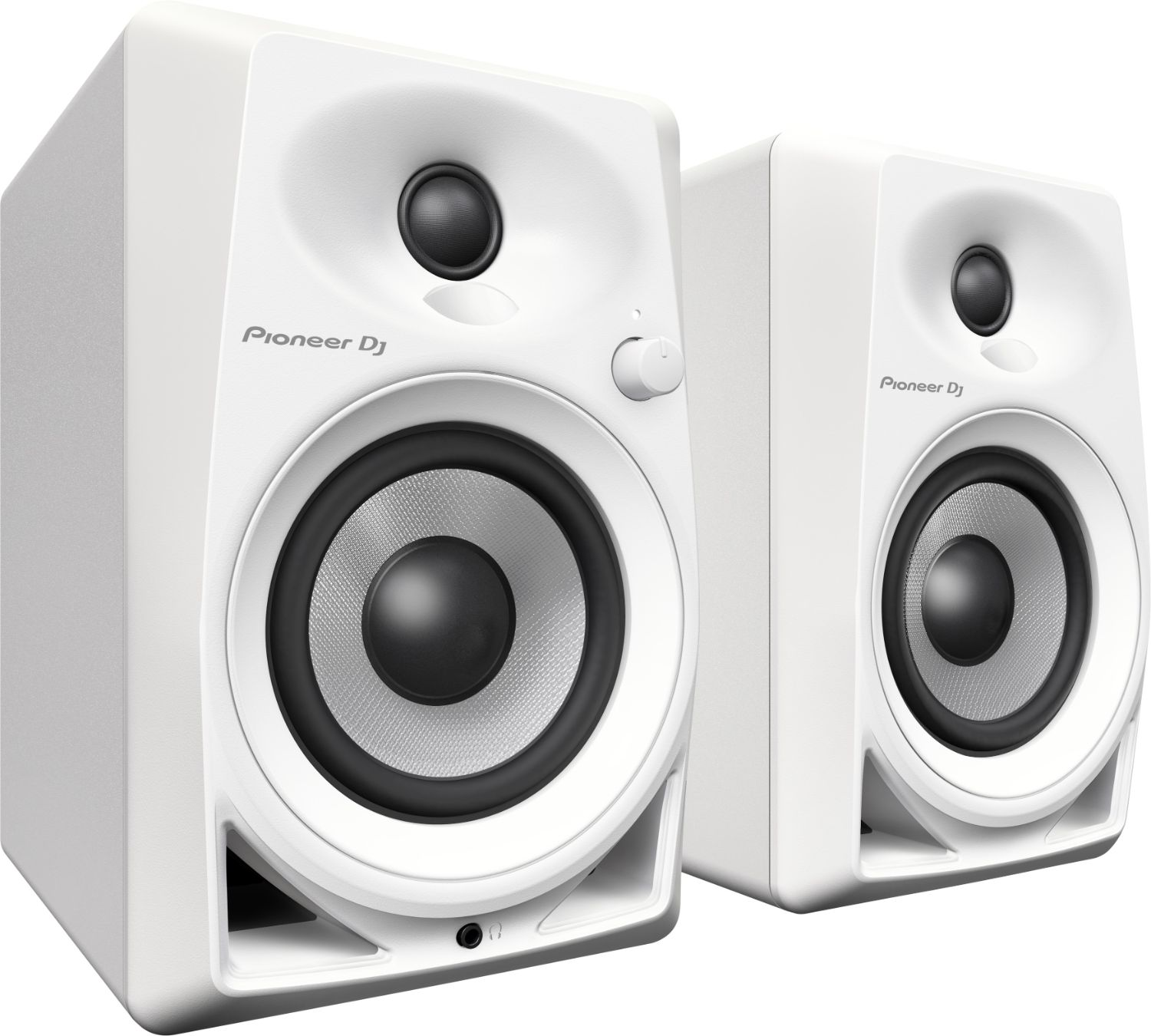 Pioneer DM-40 4-inch Compact Active Monitor Speaker - White (Pair)
