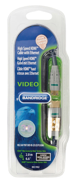 Bandridge High Speed HDMI Mini to HDMI Cable with Ethernet 2.0m