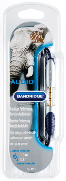 Bandridge Premium Mini Jack to Mini Jack (3.5mm) 1.0m
