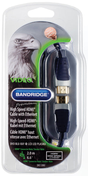 Bandridge Premium HDMI Cable with Ethernet 2.0m
