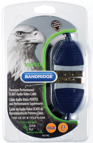 Bandridge Premium Scart Audio Video Cable 2.0m