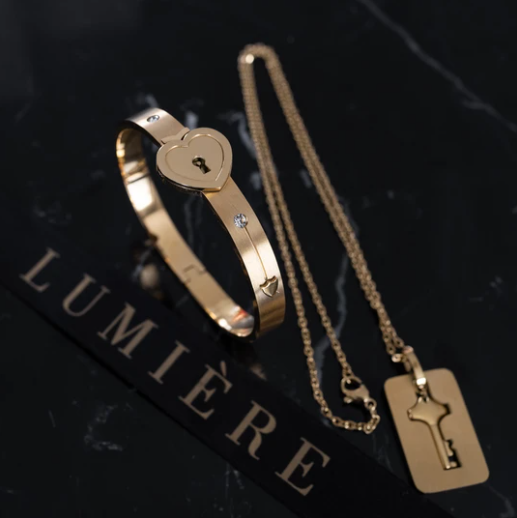 Love Lock - Ensemble Bracelet/Collier