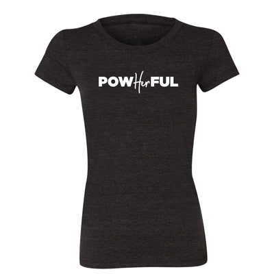Powherful tee black