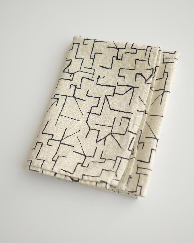 TEA TOWELS ~ Maze in Midnight